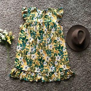 Ann Taylor Floral Flutter Shift Dress